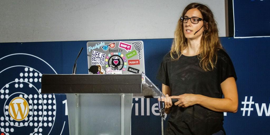 Karin Christen a WordCamp Europa nel 2014